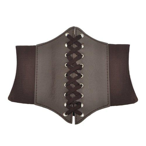 HOEREV Elastic Wide Band Elastic Tied Waspie Corset Waist Belt