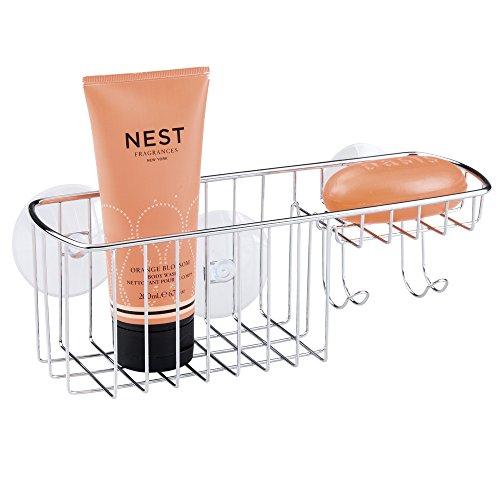 mDesign Bathroom Suction Shampoo Conditioner