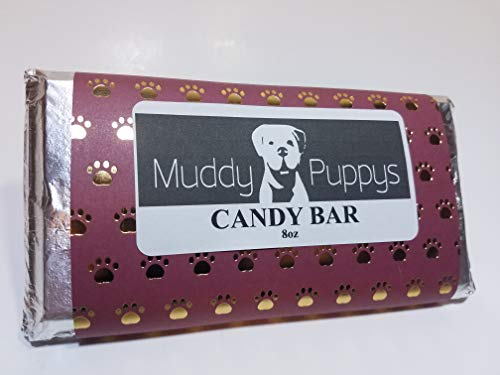 Natural Dog Treats Candy Bar Apple Nut Crunch Bar Handmade 8 oz Wheat free Dog Treat ()