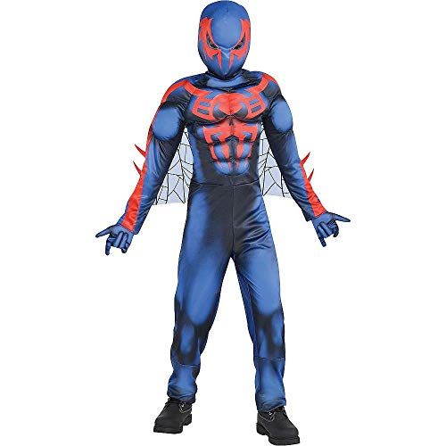 HalloCostume Boys Spider-Man 2099 Muscle Costume Compatible with Spiderman Theme