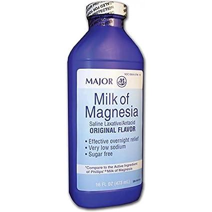 Amazon.com: Major Milk of Magnesia Suspension, 400mg/5mL, 16oz: Health & Personal Care
