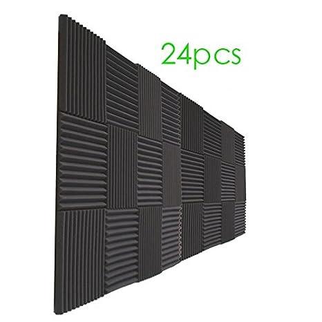 """24 Pack – gris paneles acústica Studio espuma cuñas 1 """" ..."""