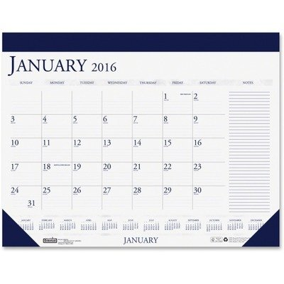 House of Doolittle Compact Desk Pad Recycled Calendar 12 Months January 2013 to December 2013 18.5 x 13 Inches, Blue and Gray (HOD1646) ()