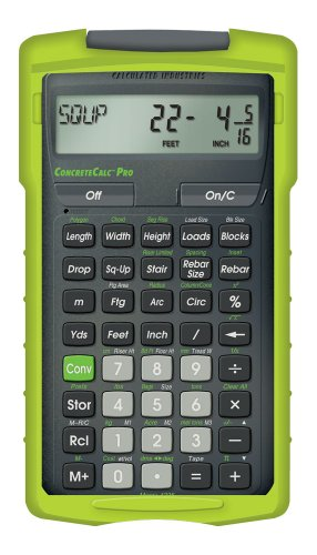 Calculated Industries ConcreteCalc Pro 4225 Advanced Yard, Feet, Inch, and Fraction Concrete (Ind Load Center)
