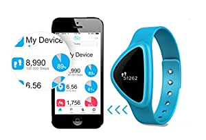 iChoice Star Bluetooth Low Energy Activity Tracker with BMI Management,Tracking Steps,Distance,Calories Burned,Fat Burned Functions (Blue)