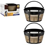 GoldTone Brand Reusable 8-12 Cup Basket Coffee Filter fits Hamilton Beach Coffee Makers and Brewers. Replaces your Hamilton Beach Reusable Coffee Filter - BPA Free (2 Pack)