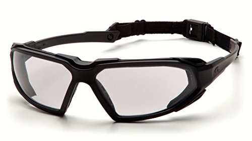 Pyramex Highlander Safety Eyewear, Black Frame/Clear Anti-Fog Lens