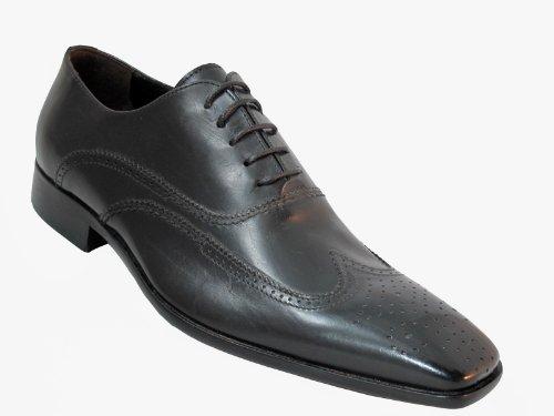 Doucals Homme Wingtip Oxford 2631 Habillé Cuir Italien Chaussures Noir