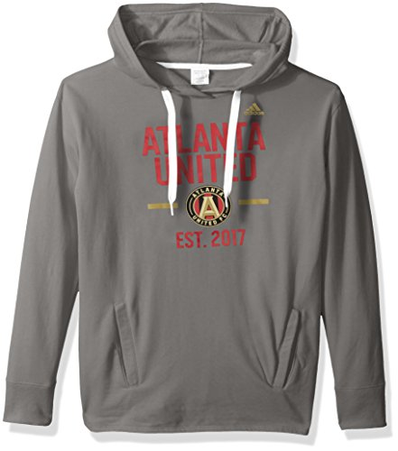 adidas MLS Atlanta United Adult Women Simply Put Fleece Hood, Small, Graphite Adidas Fleece Shorts