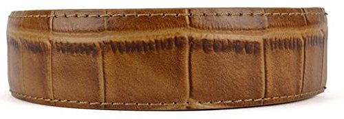 (Nexbelt Rachet System Technology - Strap: Alligator Tan The Belt with No Holes, Precise Fit, Men's Classic Reptile Leather Belt Strap Only)