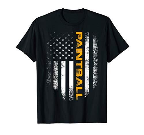 Vintage American USA Flag Paintball T-Shirt Cool Gift