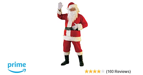 Amazon rubies flannel santa suit with beard and wig redwhite amazon rubies flannel santa suit with beard and wig redwhite standard clothing solutioingenieria Images