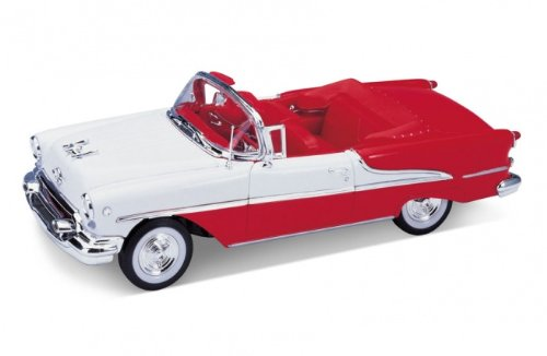 1955 Oldsmobile Super 88 Convertible Red 1/24 by Welly - Oldsmobile Super 88