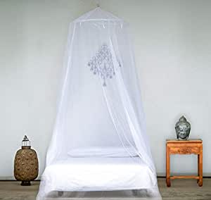 EVEN Naturals Luxury MOSQUITO NET for Bed, Large: for Single to Queen Size, Finest Holes: Mesh 380, Fly Net Bell, Bed Canopy Curtain Netting, 1 Entry, Quick Easy Installation, Storage Bag, No Chemicals Added