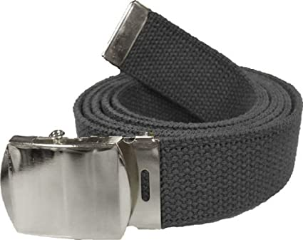 "NEW 1.5/"" WIDE OLIVE GREEN ADJUSTABLE 52/"" CANVAS MILITARY WEB BELT BLACK BUCKLE"