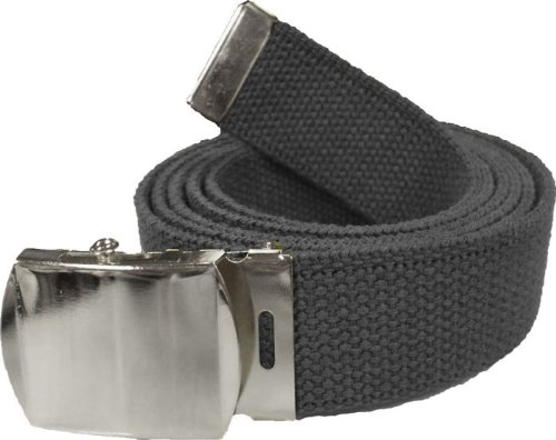 100% Cotton Military 54 quot  Web Belt (Black Belt w Chrome Buckle). Army  Universe 79c678f7791