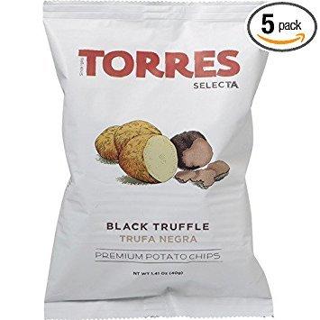 (Patatas Fritas Torres Black Truffle Premium Potato Chips (5 X 1.41 Ounce) )