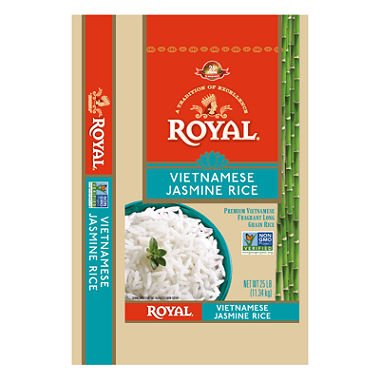 Royal Vietnamese Jasmine Rice (25 lb.) (pack of 6) by Royal