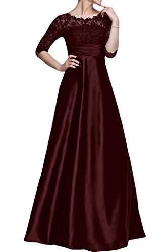 Shiningdress Women's Hand Made Lace Mother of the bride Dresses Size 12 Burgundy