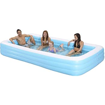 family kiddie pool giant inflatable rectangular pool 12 feet long 144x76x22