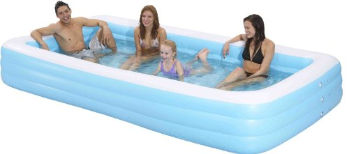 Family Kiddie Pool - Giant Inflatable Rectangular Pool - 12 Feet Long (144