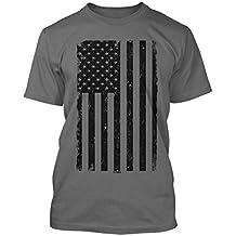 Big Black American Flag Men's T-shirt