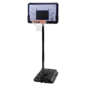 Lifetime 1221 Pro Court Height Adjustable Portable Basketball System, 44 Inch Backboard