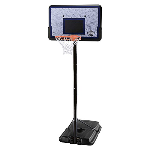 Lifetime 1221 Pro Court Height Adjustable Portable Basketball System, 44 Inch Backboard (Nba Basketball Goals)