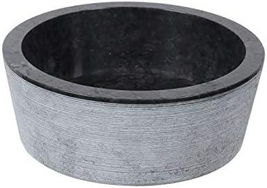 Vasque marbre design ronde /à poser NOIR//CREME//GRIS