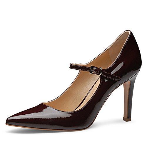 Evita Shoes Ilaria Damen Pumps Lack Bordeaux