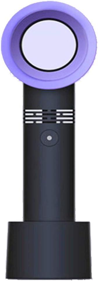CFByxr Mini USB Ventilador De Mano Portátil Sin Aspas Recargable, Ventilador De Mano Eléctrico con Batería Ventilador De Bolsillo Recargable Ventilador Doméstico Refrigeración De 3 Velocidades,Negro