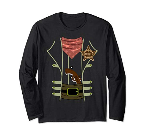 Lawman Shirt (Western Sheriff Lawman Halloween Costume Long Sleeve Shirt)