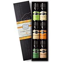Autumn Set of 6 Premium Grade Fragrance Oils - Brown Sugar, Apple, Harvest Spice, Vanilla, Forest Pine, Snickerdoodle - 10ml