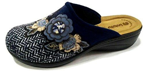 Inblu pantofole ciabatte invernali da donna art. LY-31 blu