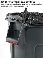 capacidad de 166 Rubbermaid Commercial Products Brute/FG264360 gris 5/l /Cubo de basura con canales de ventilaci/ón