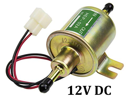 - Universal 12V Low Pressure Heavy Duty Gas Diesel Inline Electric Fuel Pump HEP-02A (3-8 PSI) for Motorcycle Carburetor Lawn Mower