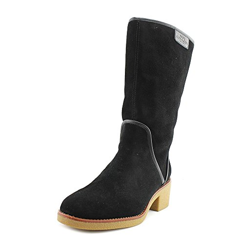 Coach Womens Palmer Closed Toe Mid-Calf Fashion Boots, Black Suede, Size 7.0 Rpx