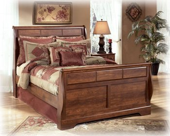 Queen Size Sleigh Bed by Ashley Furniture
