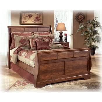 Amazon Com Queen Size Sleigh Bed By Ashley Furniture Kitchen Dining