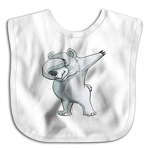 (Dab Polar Bear Dabber Dance Infant Toddler Bibs Adjustable Snaps Cute Design Baby Bib Funny Baby Shower - Gift )