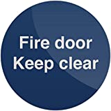 Fixman Signage Fire Door Keep Clear Sign Self-adhesive Protective Tool 100x100mm by FIXMAN