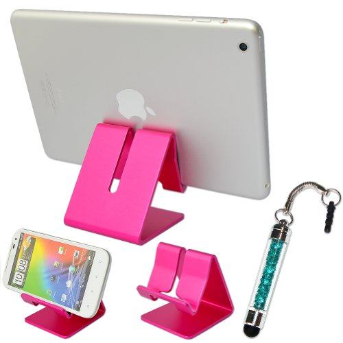 "First2savvv pink hard Steel stand desktop dock docking station for ASUS Transformer Book T100TA 10.1"" Touchscreen 2 in 1  ASUS FonePad ME175CG 7"" 3G Tablet GIGASET QV830 8"" Tablet LG G Pad 8.3"" Tablet LENOVO Yoga 10.1"" Tablet – 16 GB LENOVO A10-70 10.1"" 3G Tablet MICROSOFT Surface Pro 3 12"" Tablet with stylus pen"