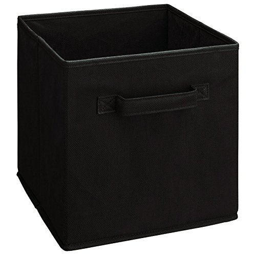 ShellKingdom Foldable Cloth Storage Cube Basket Bins Organizer Containers Drawers (2, black) (Storage 2 Bin Drawer)