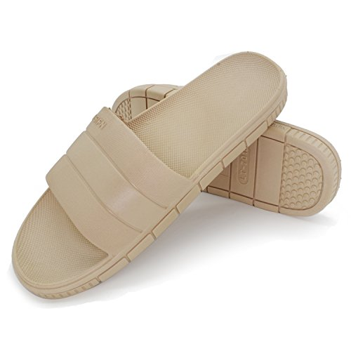 Sandal Spa Slippers Antiskid Shower and Khaki Bath Women Slippers Men Comfortable for House Slippers Txnq7YFP