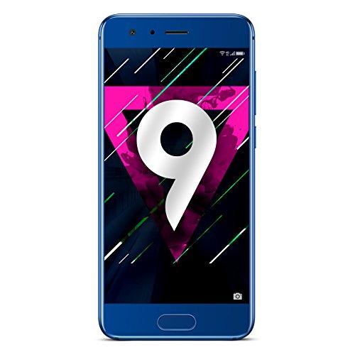 """Honor 9 Smartphone 4G LTE, Display IPS 5.15"""" FHD (1920 x 1080), Kirin 960 Octa-Core, 64 GB, 4 GB RAM, Doppia Fotocamera 20MP/12MP, Batteria 3200 mAh, DualSIM, Blu"""