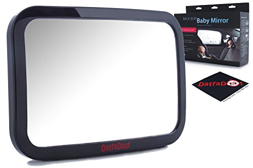 Baby Car Mirror - Super-Sized Rear Facing Baby Mirror - Safety Certified & Crash Tested - Shatterproof, Crystal Clear Back Seat Baby Mirror - Gorgeous Gift Box + FREE Cleaning - Why We Should Donate