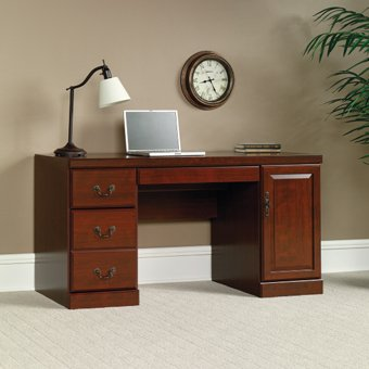 Sauder Heritage Hill Computer Credenza, Classic Cherry Finish by Sauder