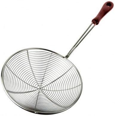 "Large 6"" Bowl Stainless Steel Frying Spider Strainer Skimmer Ladle for Pasta etc"