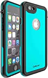 CellEver Clear iPhone 6 / 6s Waterproof Case Shockproof IP68 Certified SandProof Snowproof Full Body Protective Cover Fits Apple iPhone 6 / iPhone 6s (4.7 Inch) KZ C-Ocean Blue