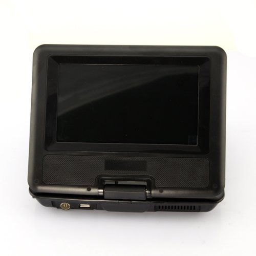 Portable DVD Player LCD Screen Display CD VCD MP3 MP4 USB Home Theater (black, 9.5 inch)